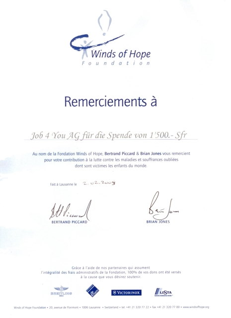 Spende Winds of Hope